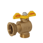 angle meter gas ball valve with butterfly handle
