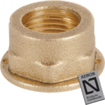 lpg brass nut with seal hole for gas meter
