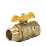 m f ruby gas ball valve with butterfly handle