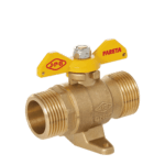 m m gas ball valve with leg and butterfly handle